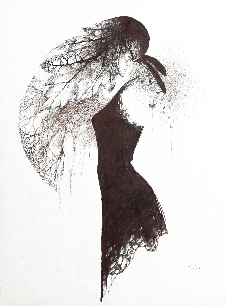 2020 Gown II 55 x 65 cm