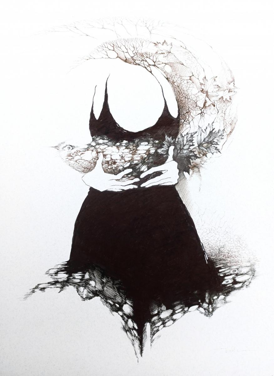 2021 Gown III 55 x 65 cm