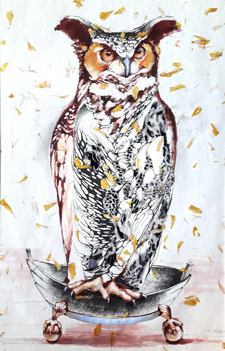 2019 Owl 45 x 75 cm